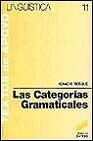 Libro LAS CATEGORIAS GRAMATICALES