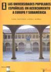 Libro LAS UNIVERSIDADES POPULARES ESPAÑOLAS