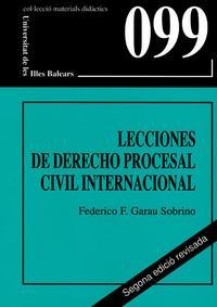 Libro LECCIONES DE DERECHO PROCESAL CIVIL INTERNACIONAL