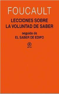 Libro LECCIONES SOBRE LA VOLUNTAD DE SABER
