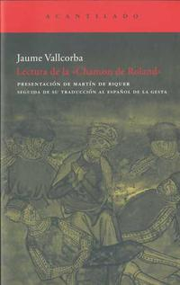 Libro LECTURA DE LA CHANSON DE ROLAND