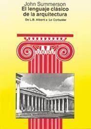 Libro LENGUAJE CLASICO DE LA ARQUITECTURA