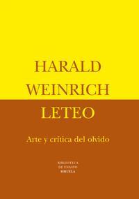 Libro LETEO: ARTE Y CRITICA DEL OLVIDO