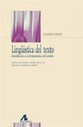 Libro LINGUISTICA DEL TEXTO INTRODUCCION HERMENEUTICA DEL SENTIDO