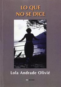 Libro LO QUE NO SE DICE