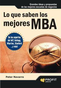 Libro LO QUE SABEN LOS MEJORES MBA