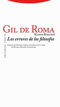 Libro LOS ERRORES DE LOS FILOSOFOS