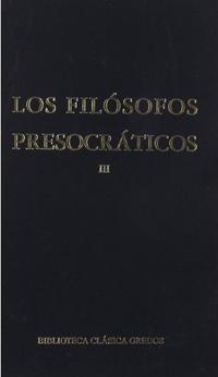 Libro LOS FILOSOFOS PRESOCRATICOS,