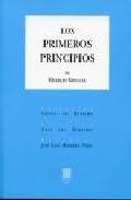 Libro LOS PRIMEROS PRINCIPIOS