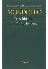 Libro LOS TRES FILÓSOFOS DEL RENACIMIENTO