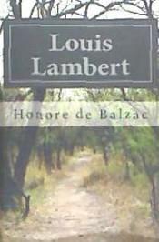 Libro LOUIS LAMBERT