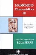 Libro MAIMONIDES. OBRAS MEDICAS III