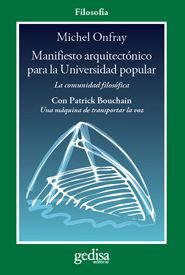 Libro MANIFIESTO ARQUITECTONICO PARA LA UNIVERSIDAD POPULAR