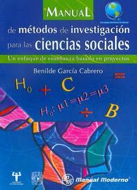 Libro MANUAL DE METODOS DE INVESTIGACION PARA LAS CIENCIAS SOCIALES