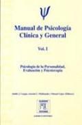 Libro MANUAL DE PSICOLOGIA CLINICA Y GENERAL: PSICOPATOLOGIA