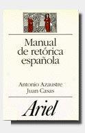 Libro MANUAL DE RETORICA ESPAÑOLA