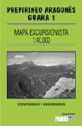 Libro MAPA EXCURSIONISTA PREPIRINEO ARAGONES, GUARA 1