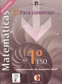 Libro MATEMARICAS. 1º ESO. SOLUCIONARIO