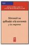 Libro MATEMATICAS APLICADAS A LA ECONOMIA Y LA EMPRESA