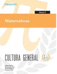 Libro MATEMATICAS. NIVEL II. CULTURA GENERAL