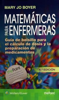 Libro MATEMÁTICAS PARA ENFERMERAS