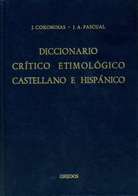 Libro ME-RE: DICCIONARIO CRITICO ETIMOLOGICO CASTELLANO E HISPANICO