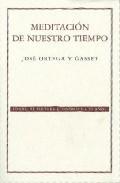 Libro MEDITACION DE NUESTRO TIEMPO