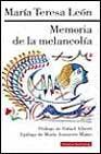 Libro MEMORIA DE LA MELANCOLIA