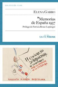 Libro MEMORIAS DE ESPAÑA 1937