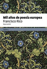 Libro MIL AÑOS DE POESIA EUROPEA