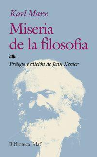 Libro MISERIA DE LA FILOSOFIA