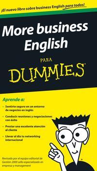 Libro MORE BUSINESS ENGLISH PARA DUMMIES