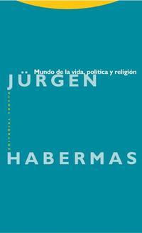 Libro MUNDO DE LA VIDA, POLITICA Y RELIGION