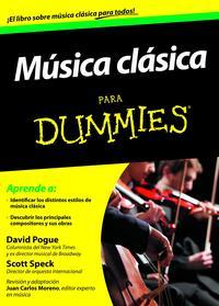Libro MUSICA CLASICA PARA DUMMIES
