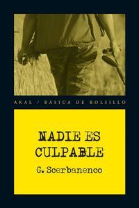Libro NADIE ES CULPABLE