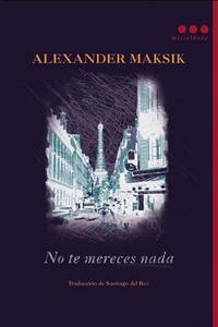 Libro NO TE MERECES NADA