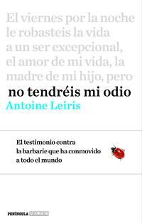 Libro NO TENDRÉIS MI ODIO
