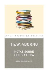 Libro NOTAS SOBRE LITERATURA