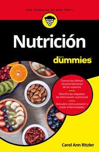 Libro NUTRICION PARA DUMMIES