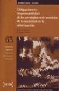 Libro OBLIGACIONES Y RESPONSABILIDAD DE LOS PRESTADORES DE SERVICIOS DE LA SOCIEDAD DE LA INFORMACION