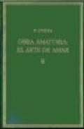 Libro OBRA AMATORIA II. EL ARTE DE AMAR
