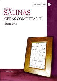 Libro OBRAS COMPLETAS III: EPISTOLARIO