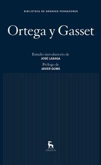 Libro ORTEGA Y GASSET
