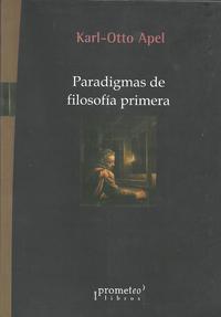 Libro PARADIGMAS DE FILOSOFIA PRIMERA