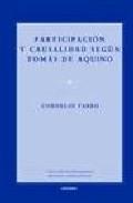 Libro PARTICIPACION Y CAUSALIDAD SEGUN TOMAS DE AQUINO
