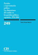Libro PARTIDOS Y REPRESENTACION POLITICA: LAS DIMENSIONES DEL CAMBIO EN LOS PARTIDOS POLITICOS ESPAÑOLES, 1976-2006