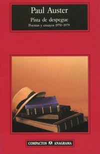 Libro PISTA DE DESPEGUE: POEMAS Y ENSAYOS