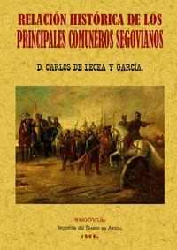 Libro PRINCIPALES COMUNEROS DE SEGOVIA: RELACION HISTORICA