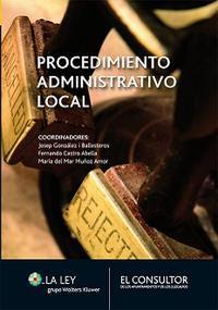 Libro PROCEDIMIENTO ADMINISTRATIVO LOCAL