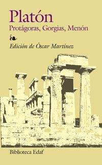 Libro PROTAGORAS, GORGIAS Y MENON